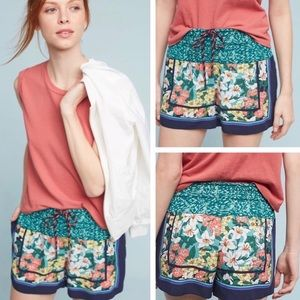 HEI-HEI by Anthropologie Floral Print Shorts, XL